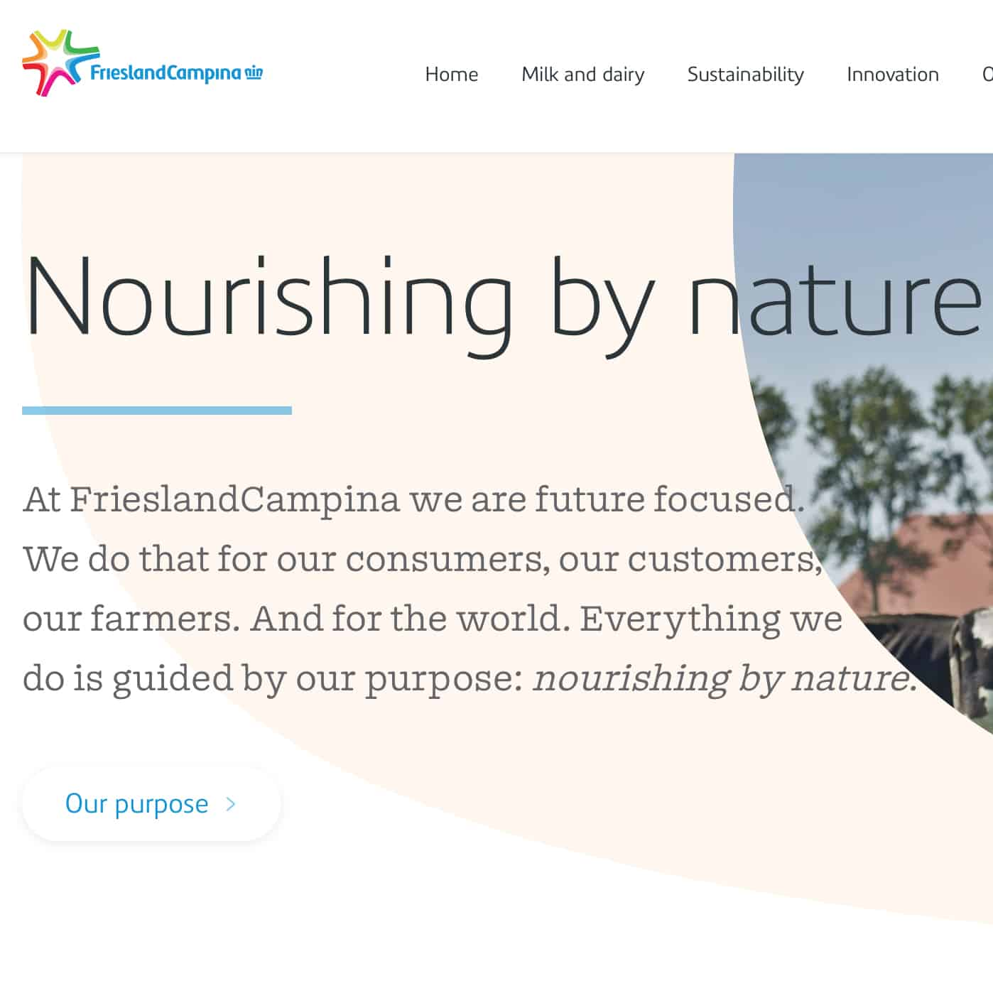 FrieslandCampina's corporate website