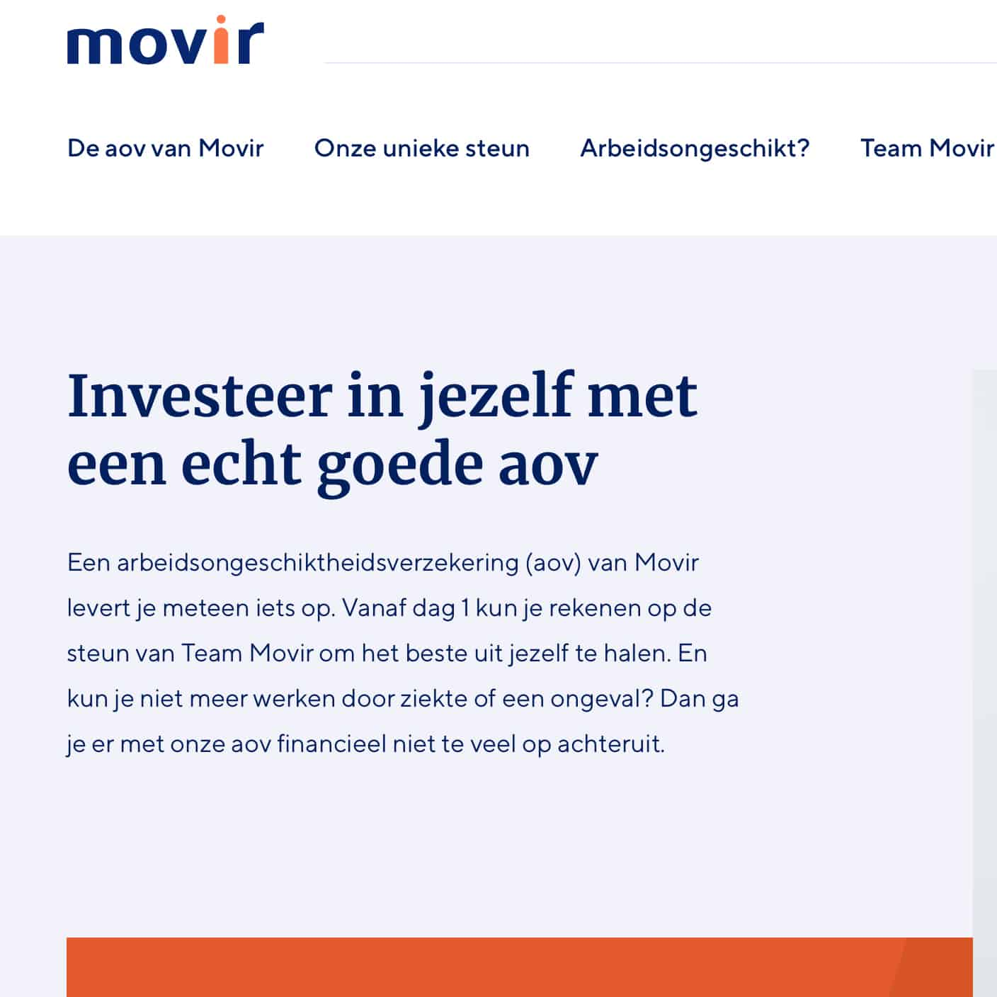 Corporate website Movir
