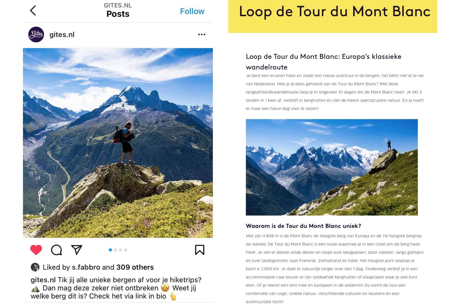 Campagne voor Gites om millennials te motiveren naar de Mont Blanc te gaan