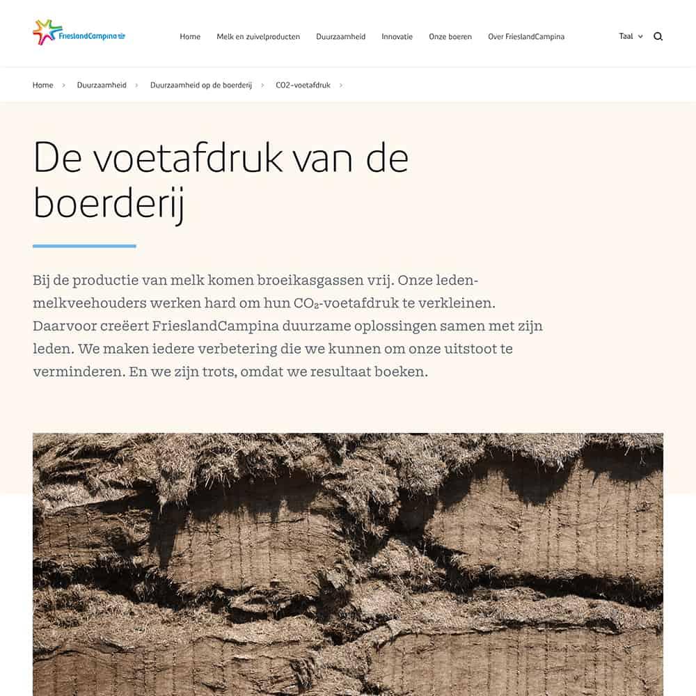 Teksten geschreven door Nina Vossen voor FrieslandCampina's website