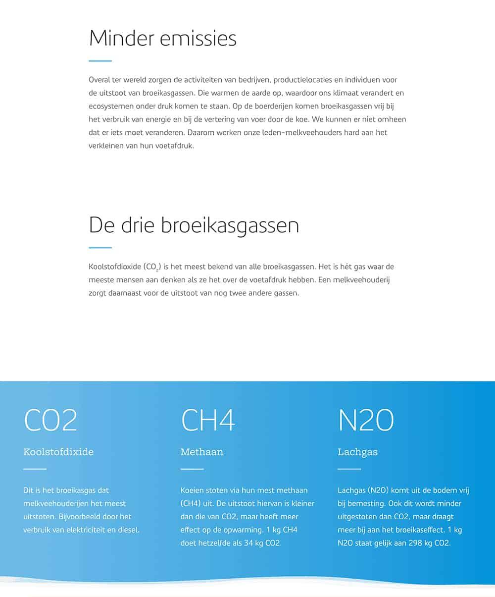 Teksten geschreven door Nina Vossen voor FrieslandCampina's corporate website